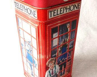 Churchill's Confectionery Tin Money Box Telephone Kiosk Piggy Bank Heritage Of England