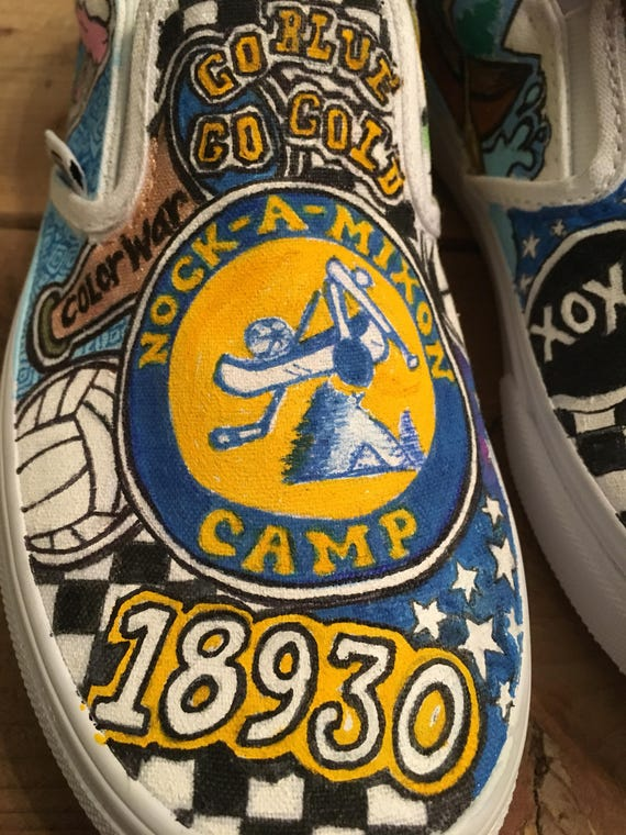 Camp canadensis, camp nock a mixon custom sneakers sleepaway, overnight camp  custom vans