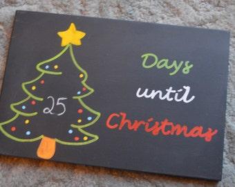 Countdown to Christmas Chalkboard - Tree Design
