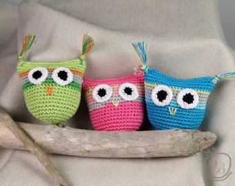 Crochet Owl rattle Baby rattle Easter gift Amigurumi Eco friendly Rattle Baby Shower Gift