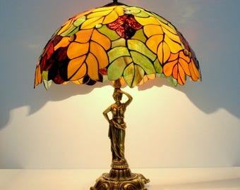 Table lamp. Stained glass lamp. Tiffany style lamps. Tiffany table lamps. Stained Glass lamp shade. Tiffany Lamps. Tiffany lamp shade.