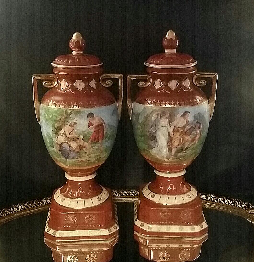 Urns erphila art pottery czecho slovakia french mantle urns zoom reviewsmspy