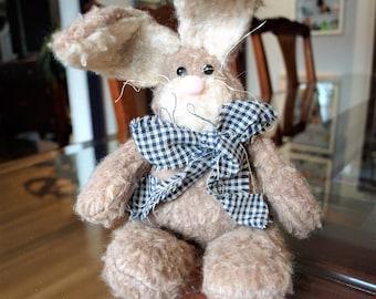 Super Cute Country Decor Stuffed Rabbit - Easter Bunny Rabbit Plushie