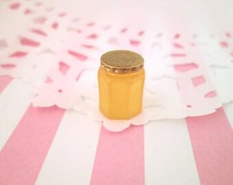 3 Miniature Honey Jar Cabochons, Tiny Kawaii Jam Jar Cabochons, #026