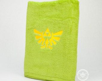 Legend of Zelda Bath Towel - Triforce - Geeky Embroidered Bathroom Towel or Video Game Decor