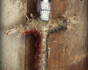 Mensajero de la muerte Voodoo Doll Folk Art