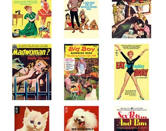 Pulp Art Stickers Theme 'Best of 9' Set - LIFE IN SUBURBIA