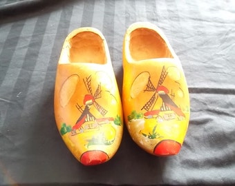 Vintage, Made in Holland, Wooden Shoes, Windmills