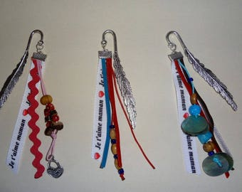 Idea gift - handcrafted bookmarks with wood beads