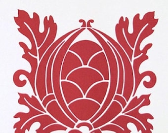 ON SALE Vicki Payne HDVP14 For Your Home Crest Cherry Home Decor Fabric By Yd