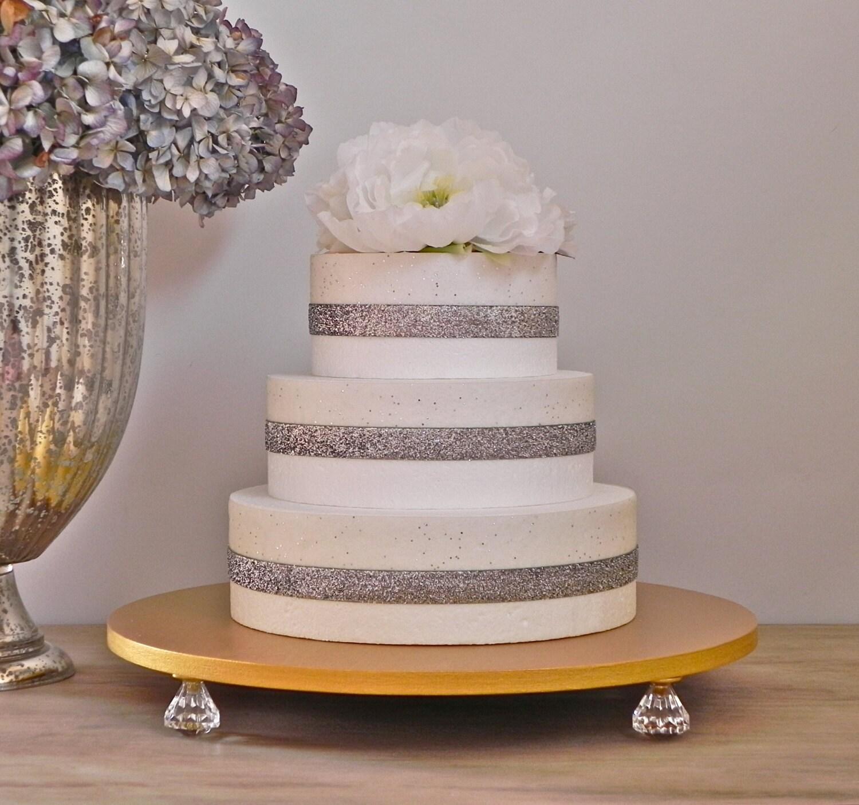 Wedding Cake Stand 16 Gold Metallic Cake Stand Gold Cake