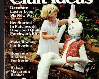 Decorating Craft Ideas - Vintage Magazine - March 1980