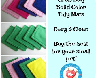 Tidy Mats | SOLID COLORS, Corner Pads | Cage Liners | Puppy Pad | Guinea Pig Fleece | Affordable Cage Liners | Cozy & Clean | Grab Bag
