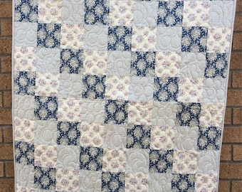 Handmade baby/toddler cot quilt
