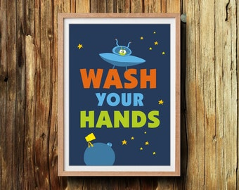 wash your hands Instant download print 5X7 Bathroom wall art print printable home decor bathroom quote art for bathroom bathroom sign
