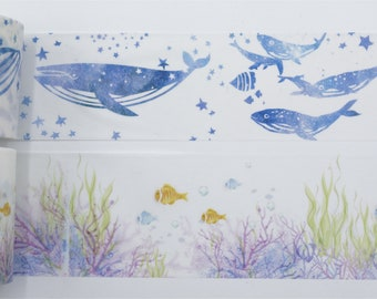 Whale/Underwater world Washi Tape/Deco Masking Tape/Planner Sticker/ Deco tape TZ2621