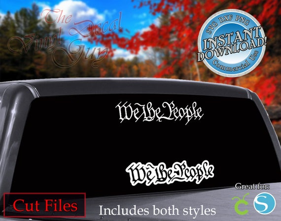 Patriotic We The People Cut File Vector Svg Dxf Png Cricut