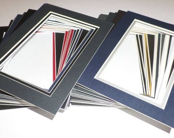 Pre-cut 25 Pack 5 x 7 for 3 x 5 Double Assorted Color Photo Mat Overctock Your Choice Great Scrapbooking