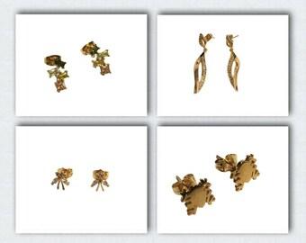 Blingustyle trendy real 18k gold plated swarovski element crystal earrings