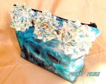 """Makeup 2012 """"Sapphire"""" turquoise, flowers, very cute"""