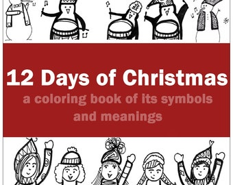 12 Days of Christmas Coloring Book [Downloadable PDF]