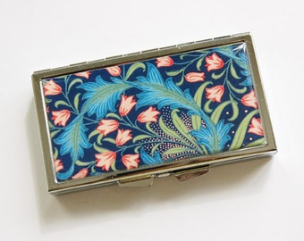 7 day pill box, Flower pill case, Pill case, Pill Container, 7 sections, 7 day, Pill Box, Venetian Design, Blue, Pink, Venetian Print (3984)