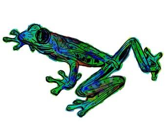 "Frog(5OG) Giclée Print - Cavanata - 8"" X 10"" Frog Graphic Fine Art Print, Original Illustration, Animal Art"