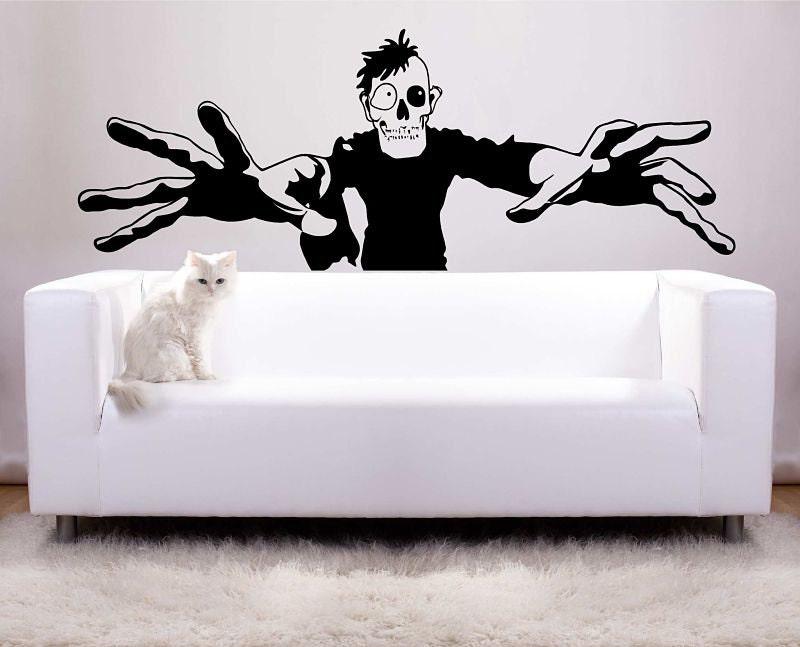 Huge Zombie Halloween Decoration Vinyl Wall Decal Photo