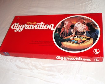 Vintage Aggravation Board Game The Original Deluxe by Lakeside 1977 Complete