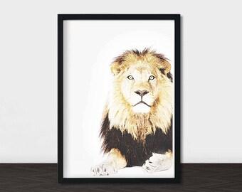 Lion Man Cave Art : Man cave decor etsy