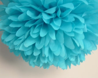 10 Tissue paper pom poms, Wedding decorations, Baby shower, Wedding anniversary, Bridal party, Party decorations.