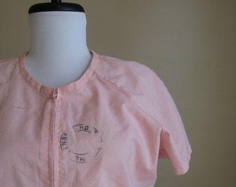 Vintage Pink Nurse Dress.  Muhlenberg Hospital.