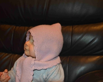 scarf 2 in 1 baby girl Hat