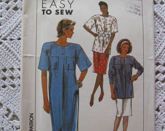 1989 Simplicity 9094 Size HH 6-12 Dress Tunic Skirt Easy To Sew Sewing Pattern