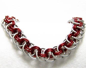 Crimson Tide Colored Football Bracelet, College Football Bracelet, College Football Jewelry, Free Shipping in US