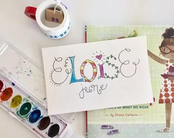 Custom Name Watercolors - Print