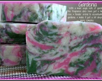 Gardenia - Rustic Suds Natural - Organic Goat Milk Triple Butter Soap Bar - 5-6oz. Each