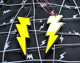 Lightning bolt Necklace // Lightning Necklace // Thunder Bolt Necklace //  Lightning Pendant