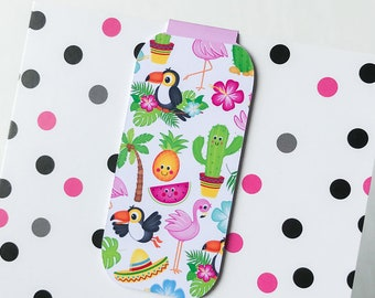 Summer Toucans One Magnetic Bookmark or Planner Page Finder, Page Minder.