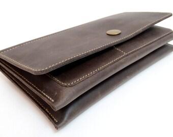 Leather wallet leather wallet Geldbörse mail bag