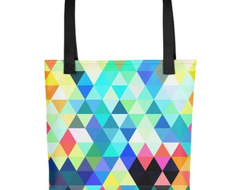 Colorful Triangles Tote bag