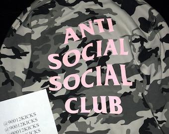 Anti Social Social Club Snow Camo Pink Hoodie