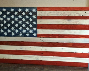 Extra large Reclaimed wood American Flag