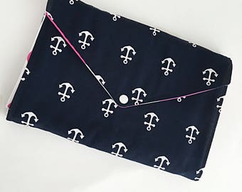 Diaper Clutch with Changing Pad - Diaper Bag Girl - Diaper Clutch Bag - Baby Changing Pad - Diaper Bag Organizer - Nautical Baby - Baby Gift