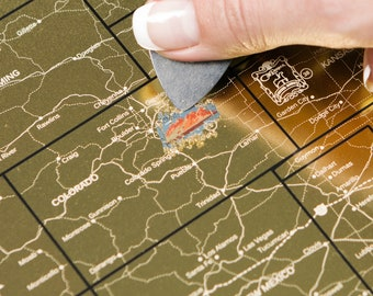 Scratch Off Map USA - Places We've Been Map - The Only United States Map Printed on Flexible Plastic  - FREE SHIPPING