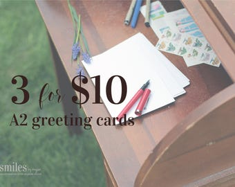 3 for 10 dollars greeting cards | thinking of you card | just because card | sympathy card | friendship and love card