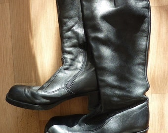 black leather boots,Salamander Leather Boots,Salamander,real Leather Biker Boots, Winterboots
