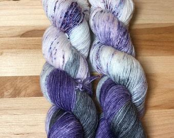 Velvet Shadows - Hand Dyed Sock Yarn 75/25 SW Merino/Nylon 463 yds
