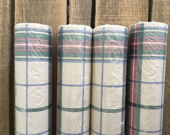 Vintage Plaid Wallpaper 4 Rolls