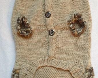 Medium - Detailed & Stylish Hand Knit Dog Sweater